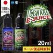 画像1: 【メール便送料無料】【ベイプバンド付】【国産E-リキッド】 ICE VAPE E-JUICE 【20ml】電子タバコ リキッド (1)