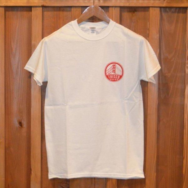 画像1: 【FRISCO】 Tシャツ  FRISCO WHITE x RED (1)